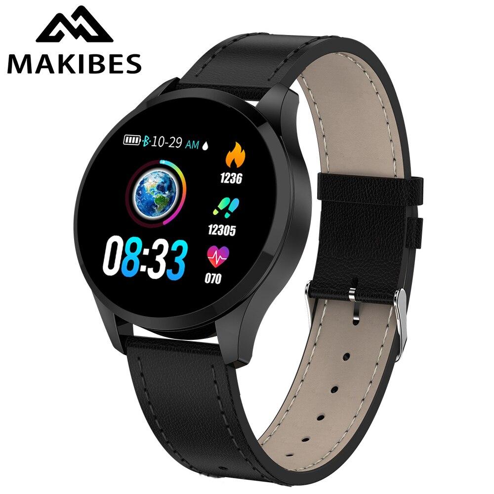 Makibes T5 Relógio Inteligente rastreador De Fitness Pulseira Moda PK Q8 smartwatch Para Huawei de Banda da pressão Arterial de oxigênio No Sangue