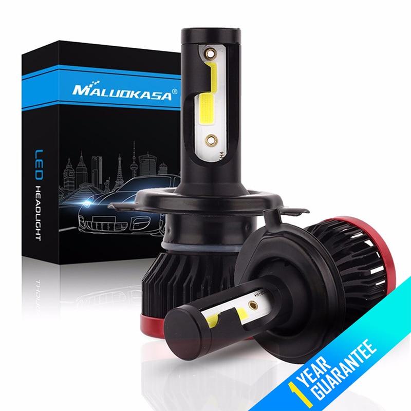 цена на MALUOKASA 2Pcs Super Mini P6 Car LED Headlight Bulbs DOB Chip 100W 20000LM 6500K H4 H7 H11 9005 9006 Auto Fog Lights Car Styling
