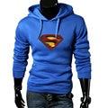 Высокое качество 2015 улица свободного покроя марка супермен толстовки мода тенденция женщины / мужчины с капюшоном пуловер спортивной верхняя одежда