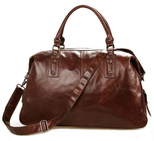 d4b80af9fa10 Luxury Genuine Leather Travel Bags Men Luggage bag large Leather duffel bag  Men Weekend bag Overnight