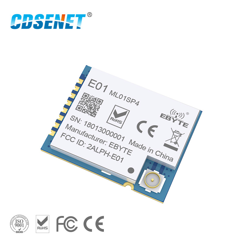 2.4GHz nRF24L01 PA LNA Wireless rf Module Power Amplifier E01-ML01SP4 SPI SMD <font><b>2.4</b></font> <font><b>ghz</b></font> Radio rf <font><b>Transmitter</b></font> Receiver for Arduino image