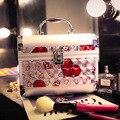 2016 Новый Женский Портативный Алюминиевый Косметический Случай Профессиональный Макияж Коробка Большая Емкость Организатор Сумка Для Хранения Салон Vanity Case