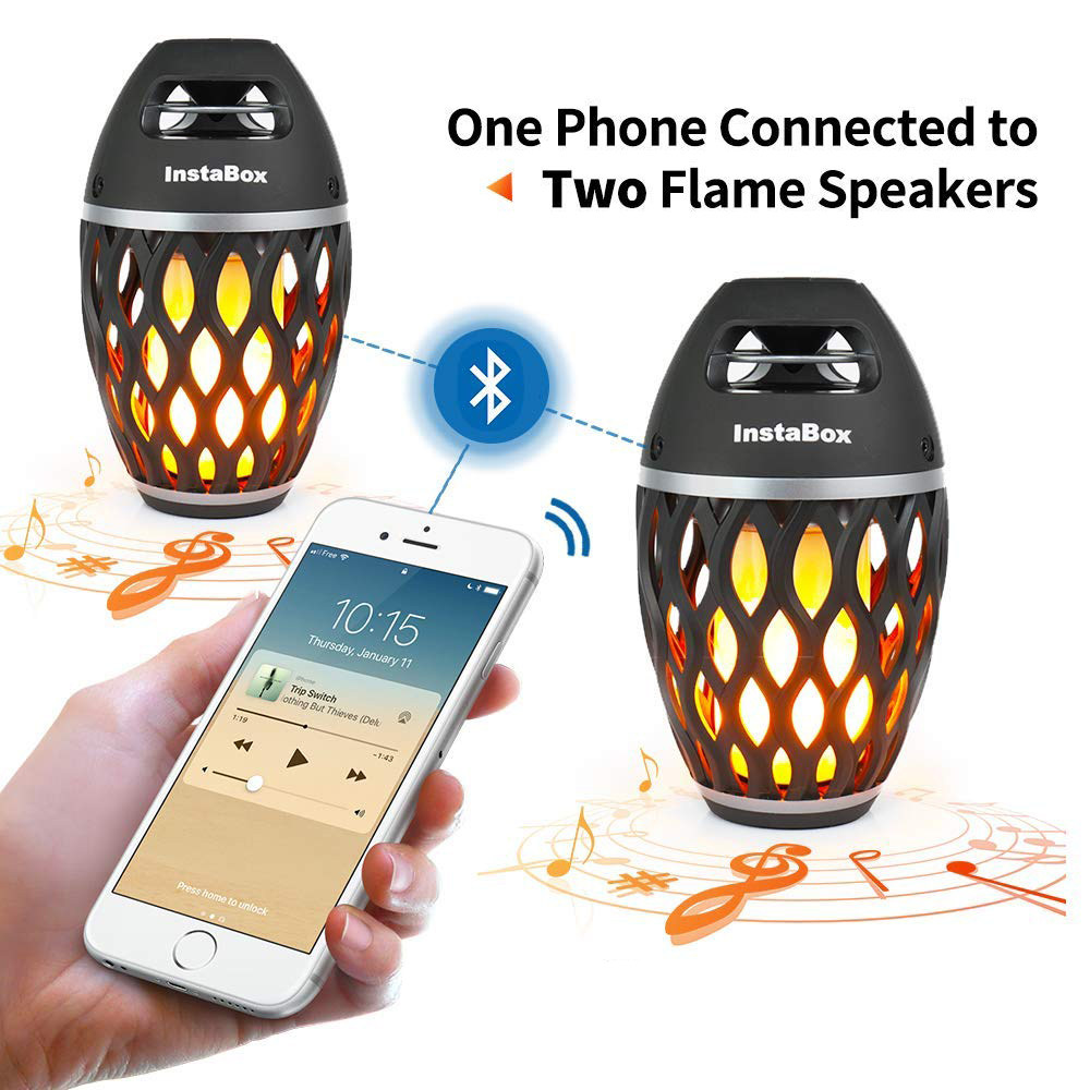 online shop usb led flame lights bluetooth speaker outdoor portable led flame fire bluetooth speaker outdoor portable stereo speaker torch atmosphere led dancing flickers warm yellow