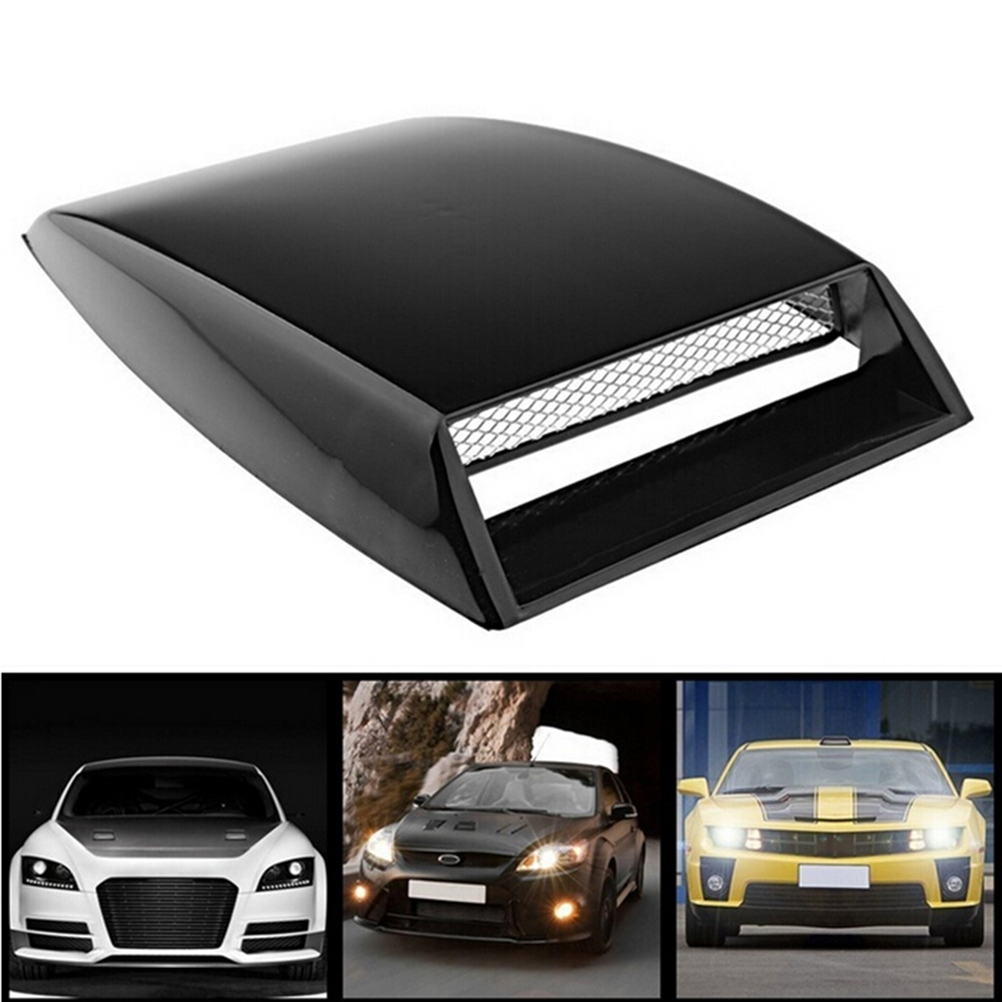 New Universal Car Fake 3D Vent Plastic Sticker Hood Scoop Exterior Decoration Black, White, Silver color fashionable bat style 3d car decoration sticker silver