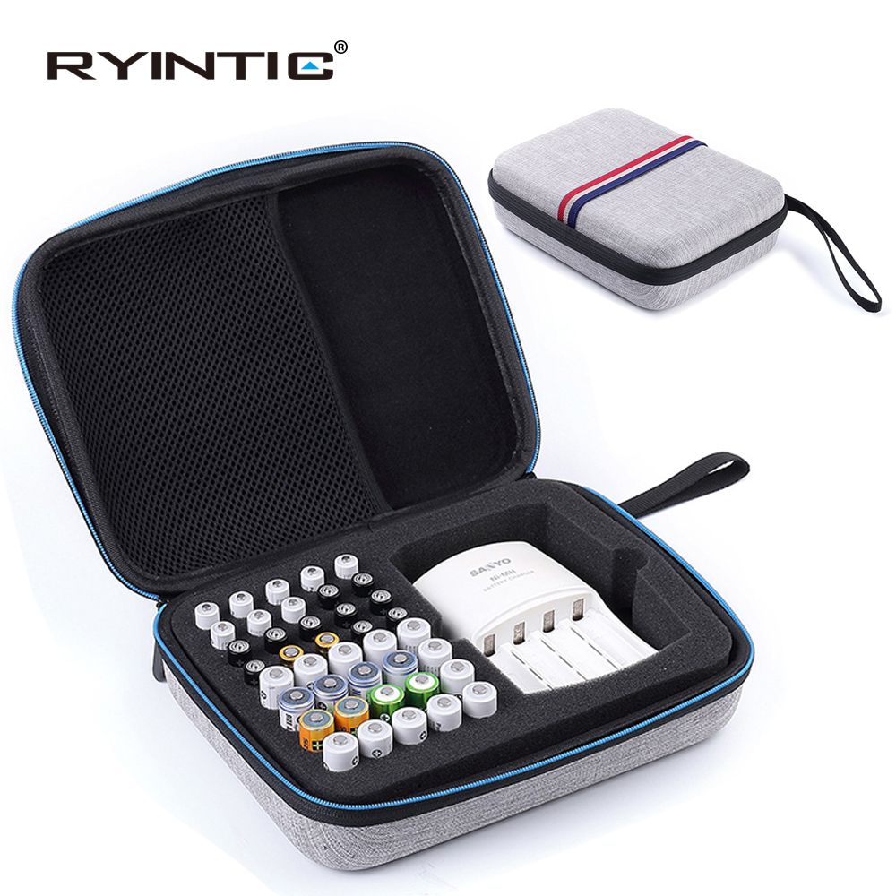 Portable Carrying EVA Shockproof Protective AA AAA Battery Holder Storage Box Case Organizer Container aa aaa Rangement Pile in Battery Storage Boxes from Consumer Electronics
