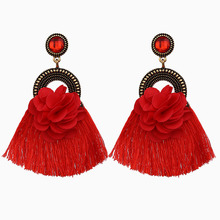 Long Tassel Statement Earrings for Women Bohemian Ethnic Earring Boho Flower Fringed Earings Fashion Jewelry Dropshipping