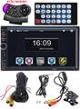"7"" HD 2 DIN Car Radio Player Rear View Camera Bluetooth Stereo FM MP3 MP4 MP5 Audio Video USB Auto Electronics autoradio charger"