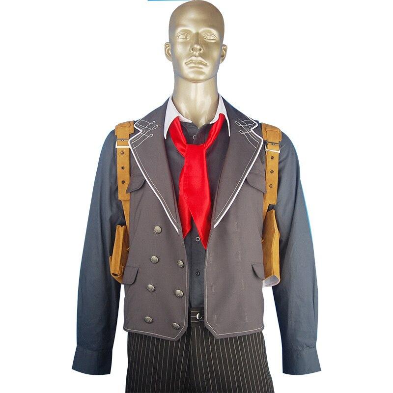 BioShock Infinite Cosplay Costume Booker Dewitt Suit Halloween Geek Costume Men Adults Christmas Xmas Gift
