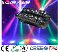 Новый перемещение головы светодиодный свет паук 8x12 Вт 4in1 RGBW вечерние свет DJ освещение луч перемещение головы свет