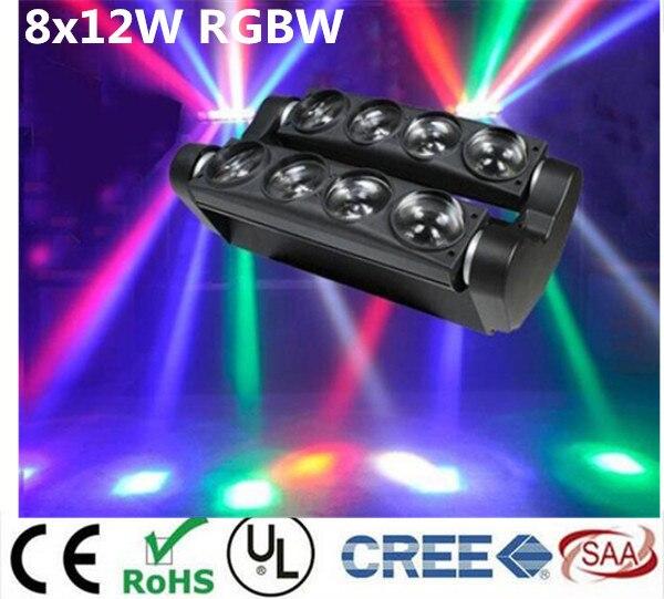 Новый перемещение головы светодиодный свет паук 8×12 Вт 4in1 RGBW участник свет DJ Освещение луч перемещение головы свет