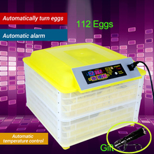 112 Egg Brooder Digital Fully Automatic Incubator Hatcher Turning Chicken Duck Humidity Temperature Control New Hatching Machine цена и фото