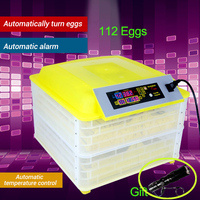 112PCS Digital Egg Incubator Automatic Egg Incubator Hatcher Clear Egg Turning Temperature Control Poultry Hatcher Farm Hatchery