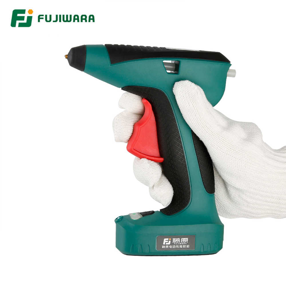 FUJIWARA alta calidad 3,6 V 1500mAh recargable de litio pistola de pegamento de fusión caliente eléctrica