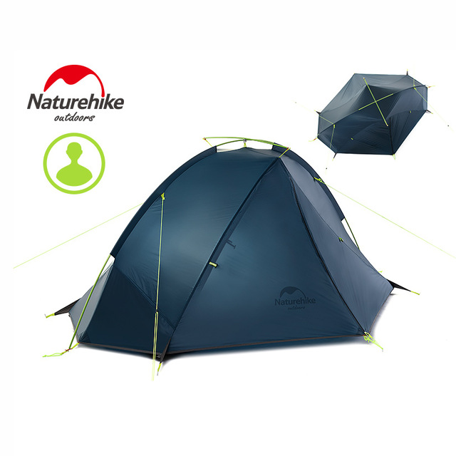 NatureHike Taga Ultralight Camping Tent 1-2 Person Tent Camping Backpack Tent 20D Ultralight Tent NH17T140-J Outdoor Camping image