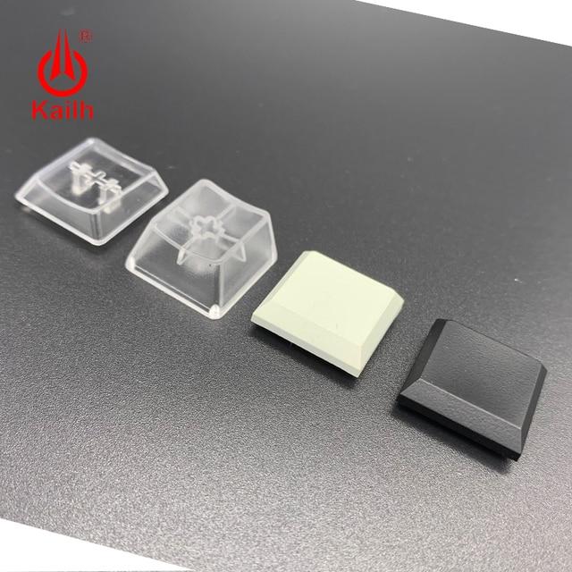 قبعات مفاتيح Kailh الانظار لعلبة 1350 مفتاح الشوكولاته شفاف أبيض أسود اللون الألعاب لتقوم بها بنفسك أغطية مفاتيح لوحة المفاتيح الميكانيكية