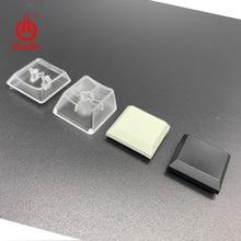 Kailh düşük profilli Keycaps kutusu için 1350 çikolata anahtarı saydam beyaz siyah renk oyun DIY mekanik klavye keycaps