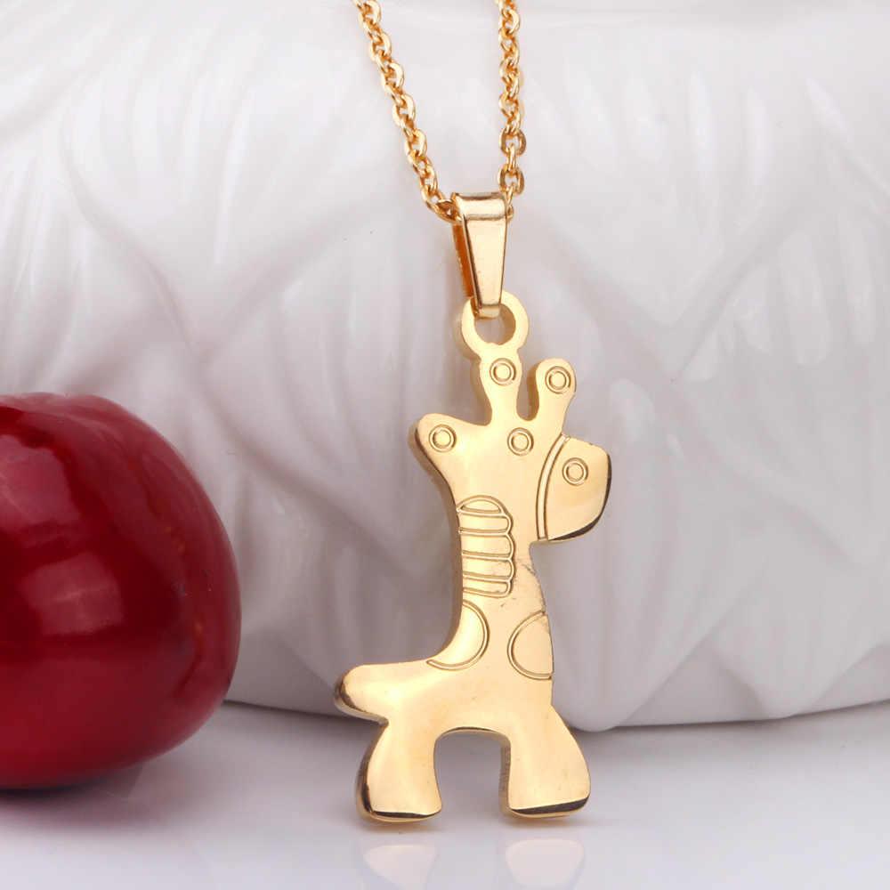 LUXUKISSKIDS di Cavallo In Oro Della Collana Del Pendente Orecchini Per Le Donne Gioelleria raffinata e alla moda Set In Acciaio Inox Dubai Africano Insieme Dei Monili