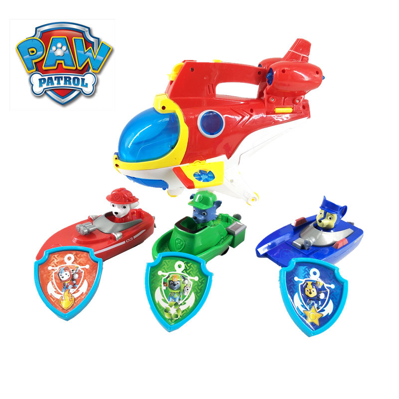 Paw Patrol Dog toy Submarine Ryder Sea Rescue Sub Patroller Music Sound Light Base Action Figure Model Toys for children Gifts image