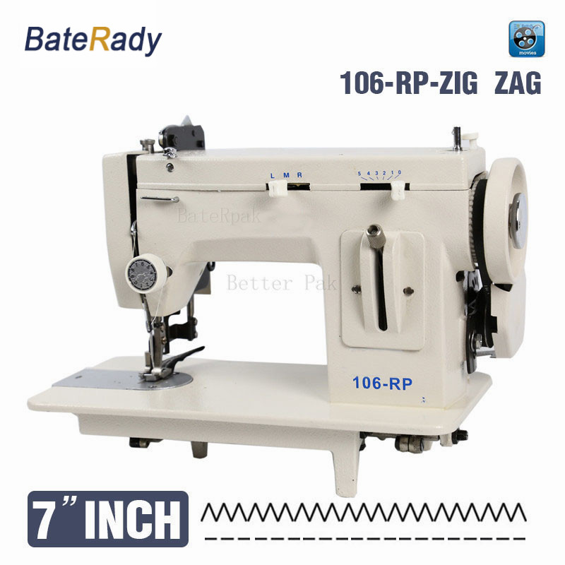 106-RPZ 7inch  BateRady fell clothes thicken sewing machine.Thick material sewing machine, reverse stich and ZIG ZAG function