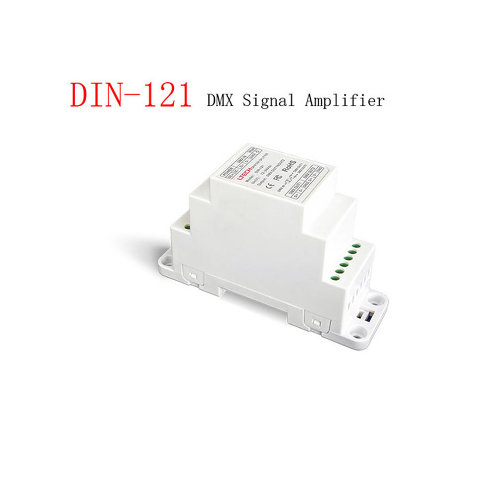 LTECH DIN-121 DIN Rail DMX Signal Amplifier Input Voltage DC12-24VLTECH DIN-121 DIN Rail DMX Signal Amplifier Input Voltage DC12-24V