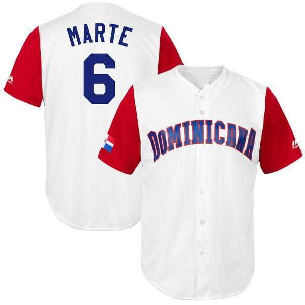 a4531464526 ... best price jerseys república dominicana de los hombres de béisbol 23  nelson cruz 6 starling marte