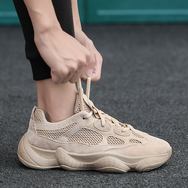 Original Running Shoes Men's Desert Rat 500 Sneakers Mesh Ultras Stablility Outdoors Boost Kanye Shoes Max Size European 44 by Ali Express