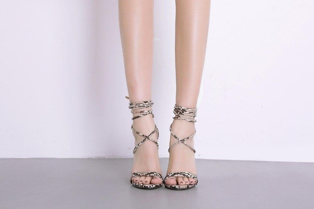 HTB1cRQUX.LrK1Rjy0Fjq6zYXFXaJ Aneikeh Fashion 2019 Summer Women's Sandals PU Lace-Up Thin High Heels Cover Heel Shallow Mature Serpentine Dance Solid 35-40
