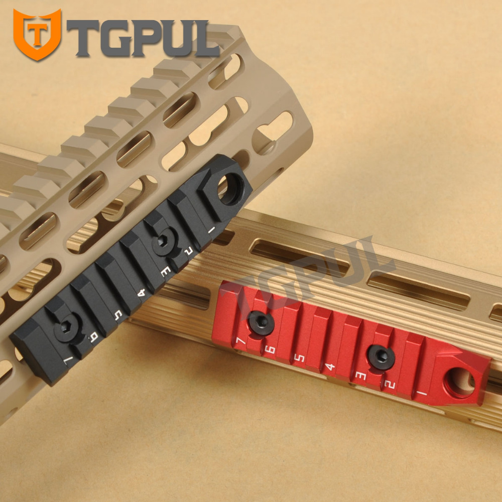 TGPUL 87mm 7 ranuras M LOK M-LOK Rail Mount Base caza Handguard accesorios con QD Sling Swivel agujero para MLOK