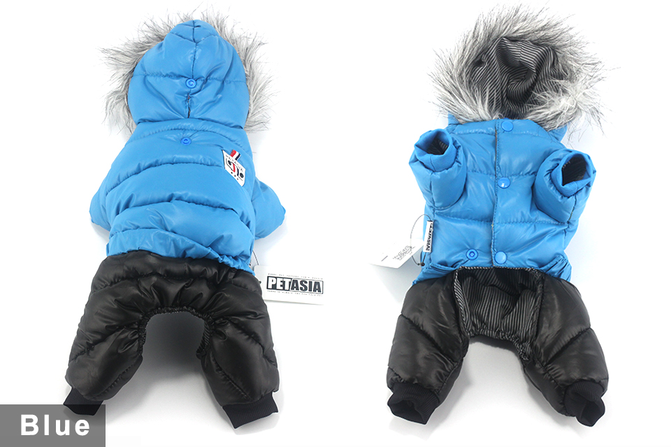 2017 NEW Design Winter Dog Clothes Winter Waterproof Pet Dog Coat Jacket Fashion Jumpsuit for Chihuahua Small Large Dogs PETASIA 412