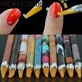 1 Unid Fácilmente Levantar Rhinestone Picker Pen Cera De Madera Pluma de Uñas Herramienta de la Manicura de Color Al Azar 8316999