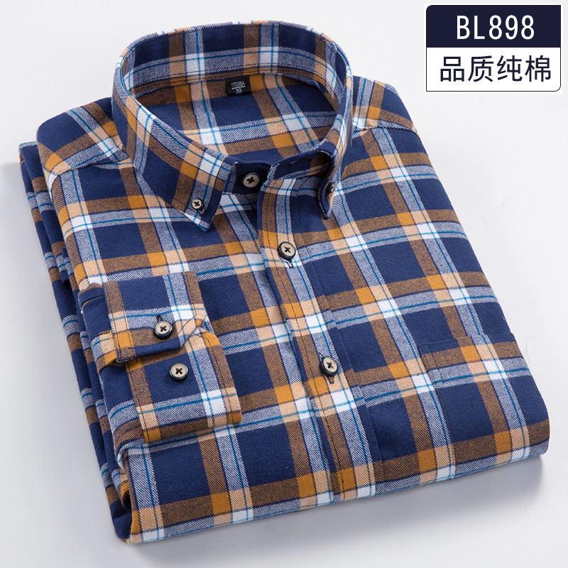 2018 Spring 6XL 7XL 8XL Plaid Casual Full Cotton Long Sleeve Dress Shirt Men Soft 110KG 120KG 130KG Fat Guy Camisa Masculina