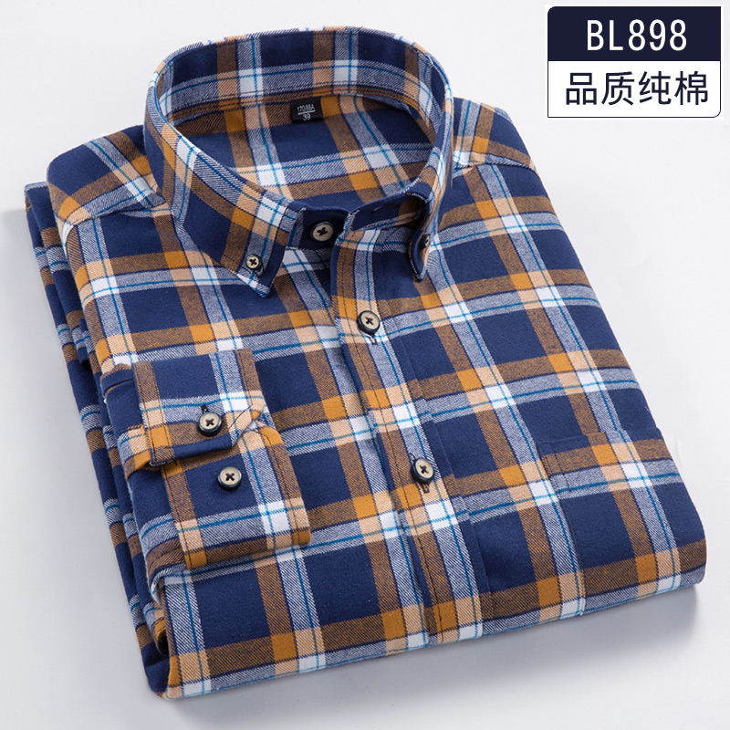 2018 Spring 6XL 7XL 8XL Plaid Casual Full Cotton Long Sleeve Dress Shirt Men Soft 110KG 120KG 130KG Fat Guy Camisa Masculina