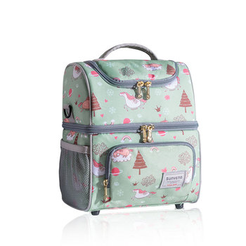 SUNVENO New Fashion Bottle Bag Keep Fresh Insulation Bag Skip Zoo Unicorn Pattern Thermal Bag for Bottles Baby Bottle Holder 8