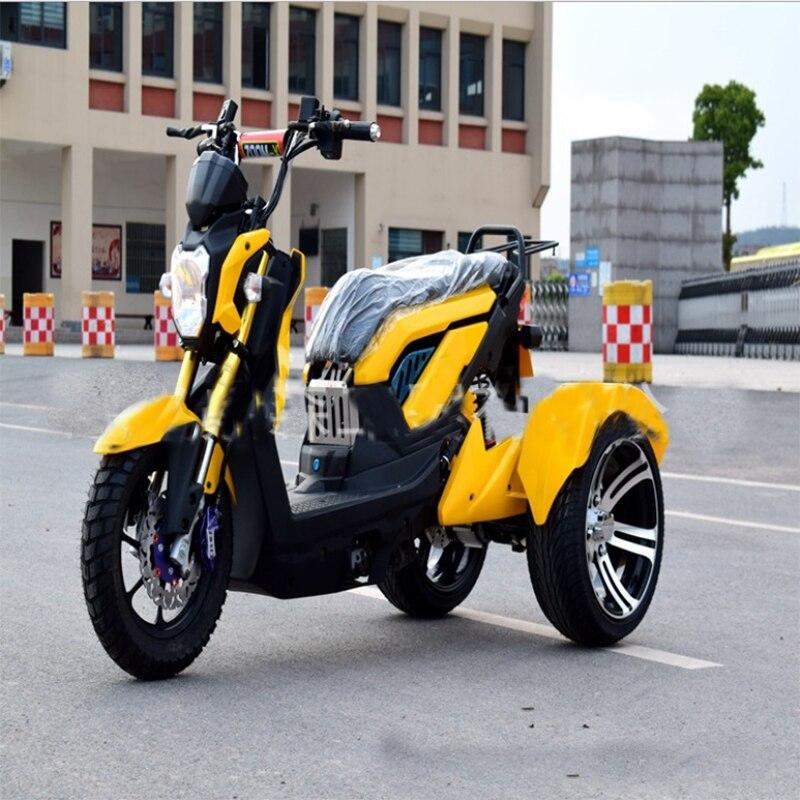 Moto vélo électrique citycoco trottinette électrique tricycle à moteur trois moto électrique à roue 60 V 12A 1500 W e vélo