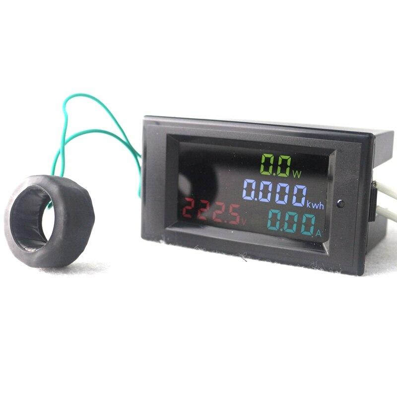 Haute Précision Numérique LED AC80.0-300.0V AC 200.0-450.0 V 0.01-100A Voltmètre Ampèremètre Volt Ampèremètre Watt D'énergie moniteur HD Écran