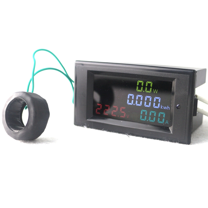 цена на High Accuracy Digital LED AC80.0-300.0V AC 200.0-450.0V 0.01-100A Voltmeter Ammeter Volt Amp Meter Watt Energy Monitor HD Screen