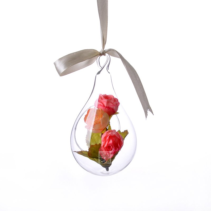 New Style Hanging Glass Vase Ceiling Drop Ball Water Shape Flower