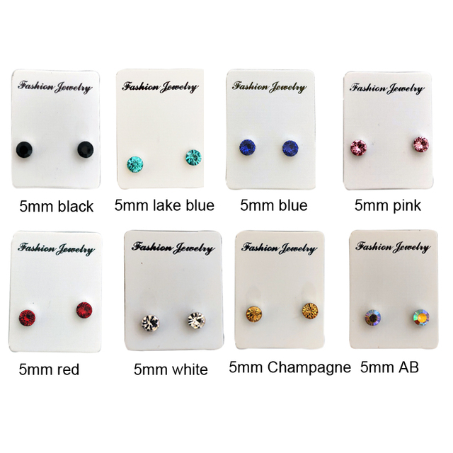Unisex Fashion Magnetic Stud Earring non piercing cartilage tragus helix earring crytsal magnet nose stud 8.jpg 640x640 - Unisex Fashion Magnetic Stud Earring non piercing cartilage tragus helix earring crytsal magnet nose stud 8 pairs/pack