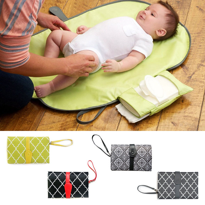 Multifunction Portable Baby Diaper Bags Storage Foldable Waterproof Diapers Mat Urine Pad Nursing Bag Baby Care For Dad And Mom