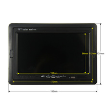 7 Inch Color TFT LCD DC 12V Car Monitor Rear View Headrest Display With 2 Channels Video Input For DVD VCD Reversing Camera