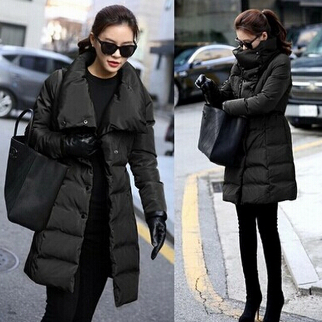 2015 Ladies Fashion Down Coat Autumn Winter Jacket Women Outerwear ...