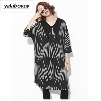 Yalabovso 2017 Newest Autumn Streetwear Loose Full Sleeve Long Shirts Turn-down Neck Patchwork Tees for woman A71-17-T185 Z20