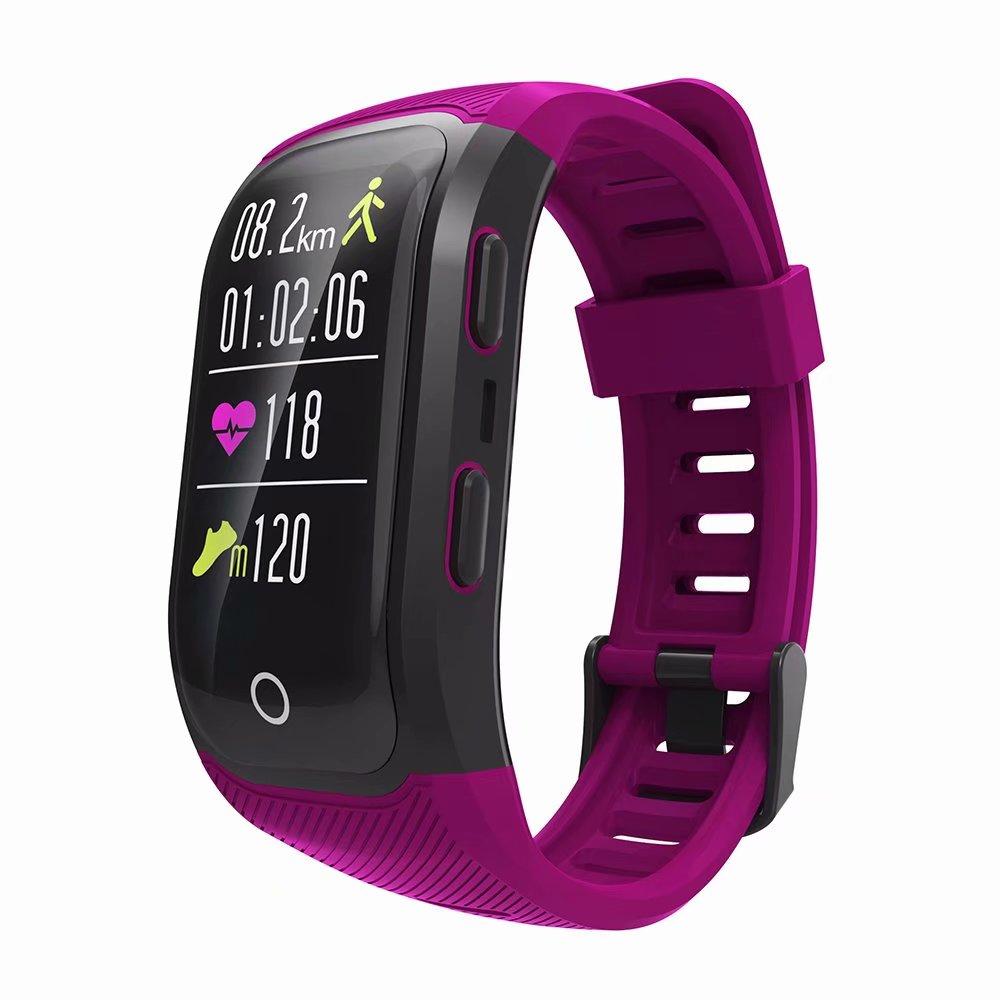 S908 Plus écran couleur GPS moniteur de fréquence cardiaque Bracelet intelligent activité Fitness Tracker Bracelet intelligent IP68 résistant à l'eau