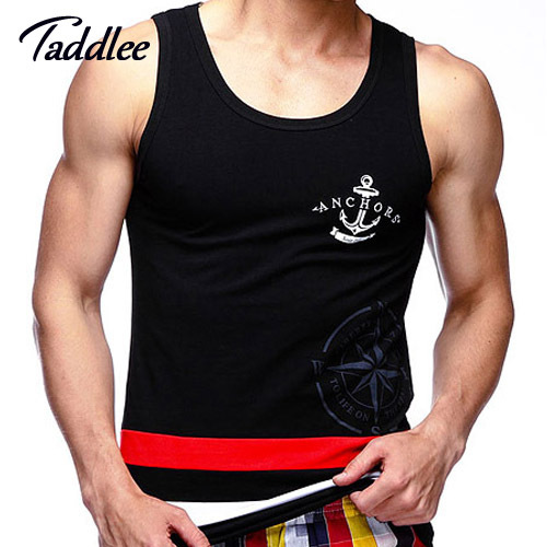 Taddlee Brand Men Tank Top Cotton Men's Tank Top Fitness Stringer Vest T shirts Sleeveless Undershirts Singlets Top Tees Shirt