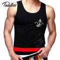 Taddlee marca hombres tank top hombres del algodón sin mangas de fitness stringer singlets chaleco camisetas sin mangas de las camisetas top tees camisa