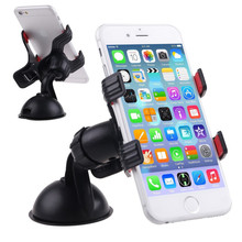 360 Degree Rotation Suction Cup Car Windshield Mount Stand Mobile Phone Car Holder For iPhone 6 6s For Samsung Smart Phone GPS