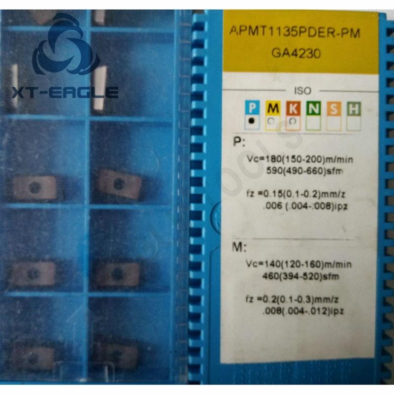 APMT1135PDER PM GA4225 APMT1135PDER PM GA4230 APMT1604PDER PM GA4225 Free shipping 100 Original brand CNC blade