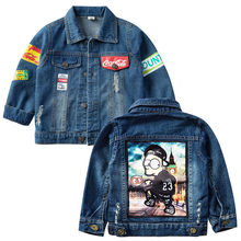 Children's Jacket 2020 Spring Autumn New Boys Girls Cartoon Windbreaker Baby Fashion Letter Denim Jackets For Kids Outerwear(China)