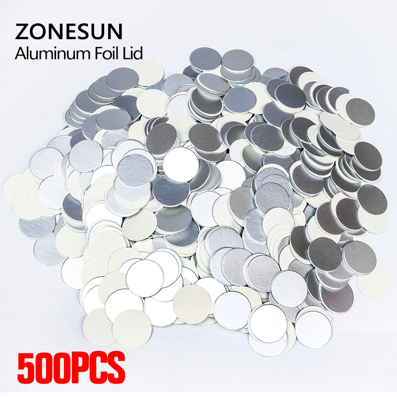 ZONESUN induction sealing customized size plactic laminated aluminum foil lid liners 500pcs for PP PET PVC PS ABS glass bottlesZONESUN induction sealing customized size plactic laminated aluminum foil lid liners 500pcs for PP PET PVC PS ABS glass bottles