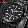 Relogio Masculino Naviforce Watches Men Brand Luxury Full Steel Black Japan Quartz Men Watch Calendar Sport Clock Men Wristwatch